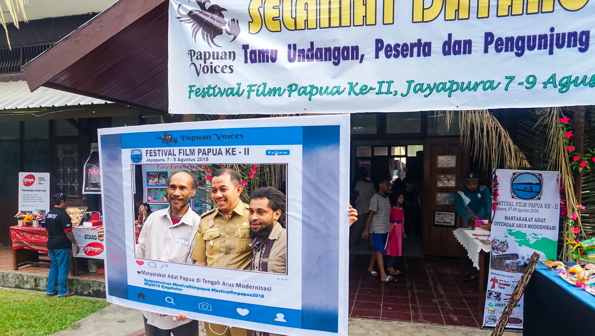 The Deputy Mayor of Papua Rustam Saru officially inaugurated the Festival Films Papua (FFP-II)